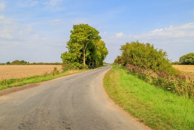 Een landweg royalty-vrije stock fotografie