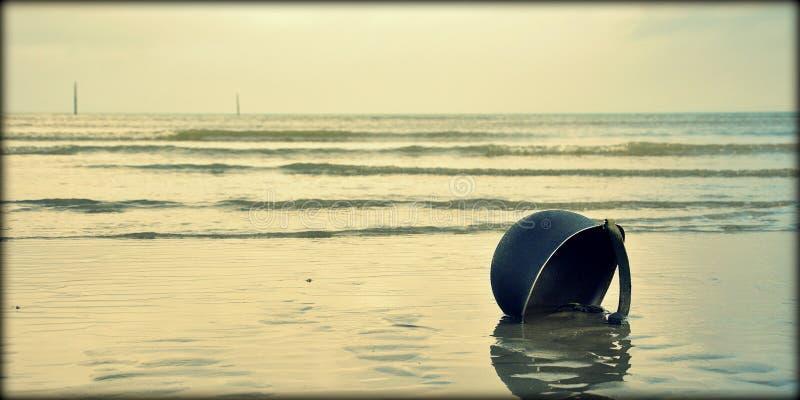 Een lange dag in Normandië stock foto