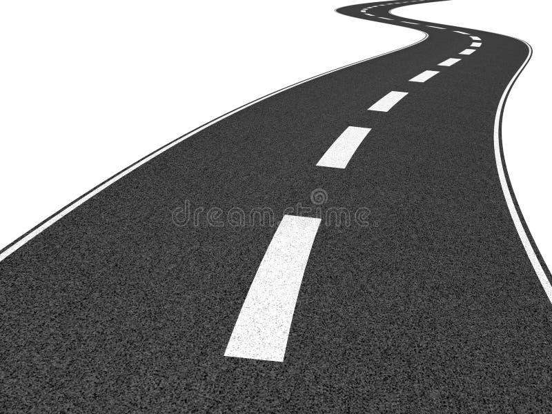 Een lange weg stock illustratie