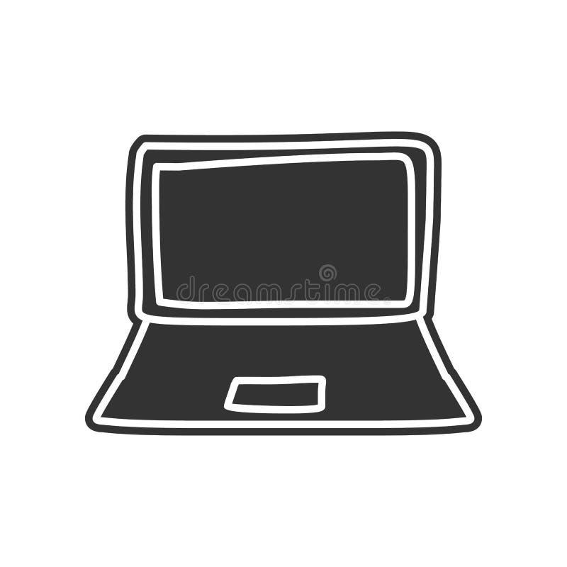 een laptop schetspictogram Element van onderwijs voor mobiel concept en Web apps pictogram Glyph, vlak pictogram voor websiteontw vector illustratie