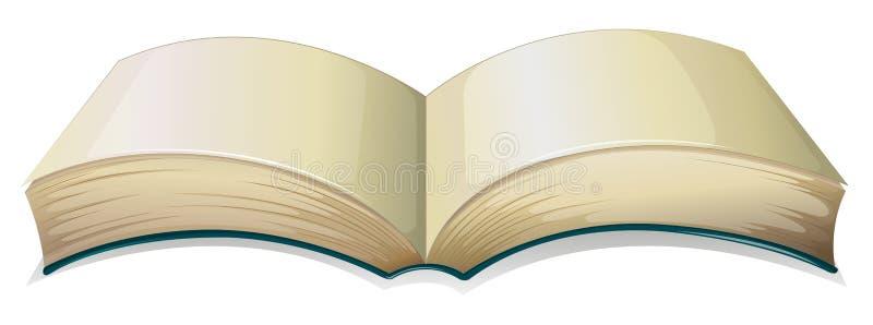 Een leeg dik boek stock illustratie