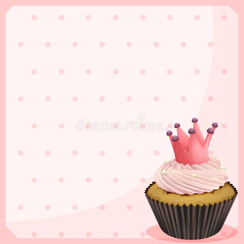 Een leeg document met een cupcake vector illustratie