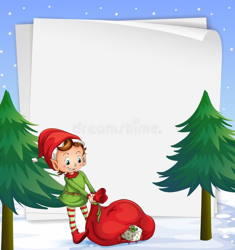 Een leeg malplaatje voor Kerstmis royalty-vrije illustratie
