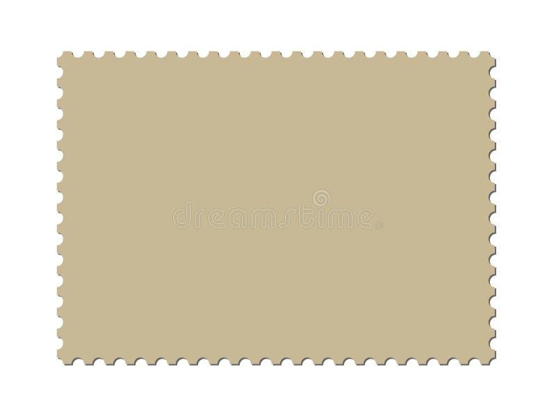 Een leeg postzegelmalplaatje (inbegrepen vector) royalty-vrije illustratie