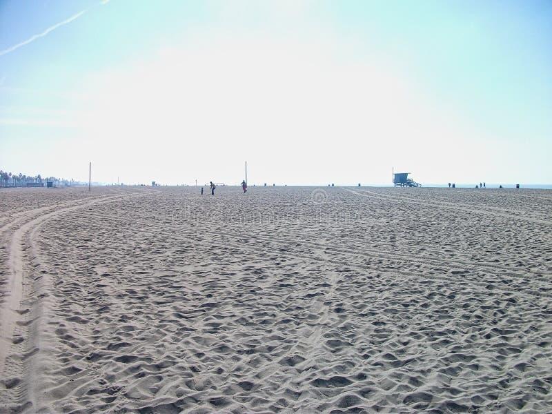 een leeg strand in Miami royalty-vrije stock fotografie