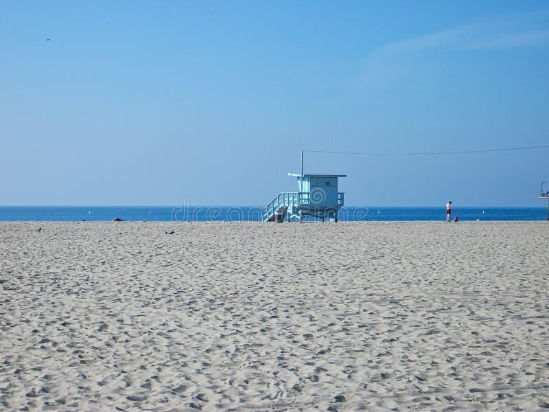 een leeg strand in Miami stock fotografie