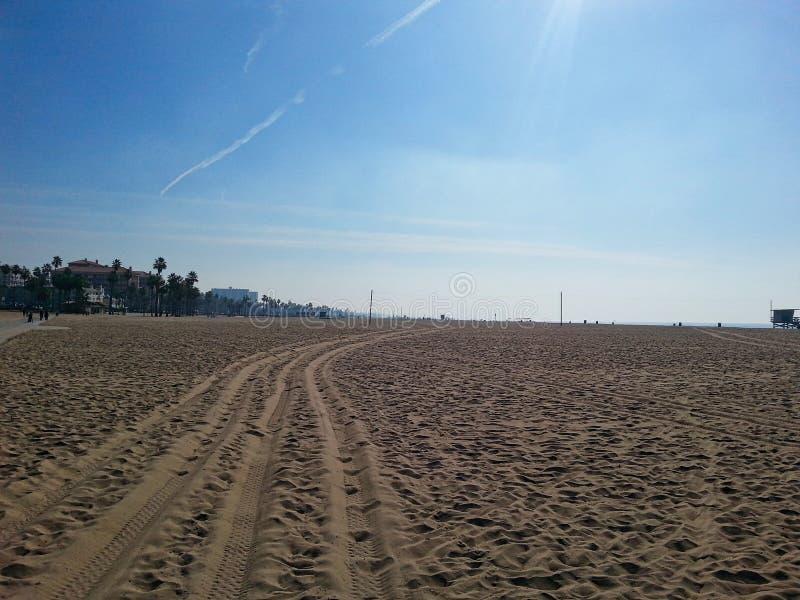 een leeg strand in Miami stock afbeelding