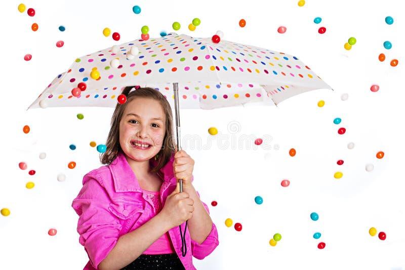De regenonweer van Gumball stock afbeeldingen