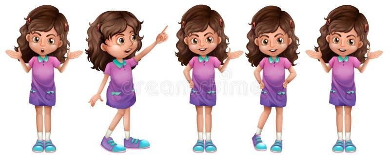 Een leuk meisje royalty-vrije illustratie