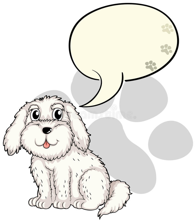 Een leuk puppy met een lege callout stock illustratie