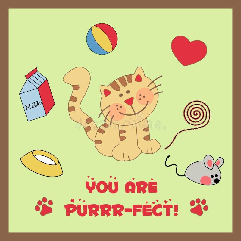 Een leuke gestreepte kat stock illustratie