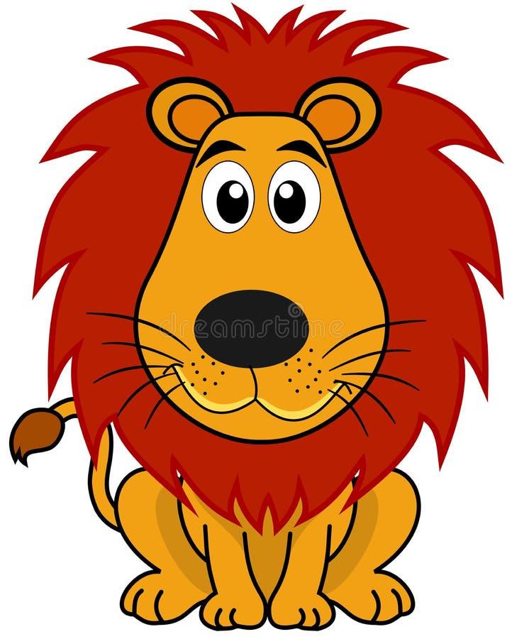 Een leuke leeuwzitting vector illustratie