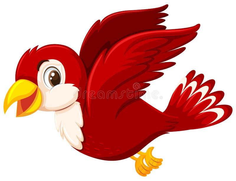 Een leuke rode vogel vector illustratie