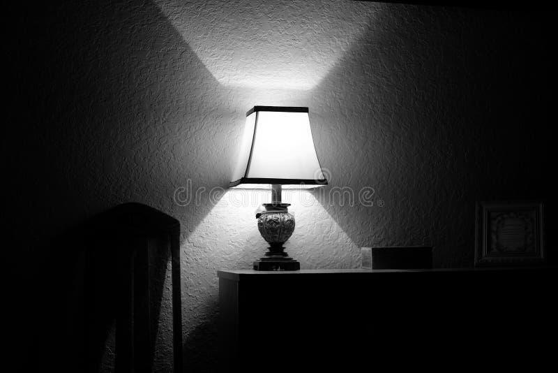 Een licht in dark royalty-vrije stock foto