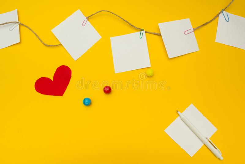 Een lijst van herinneringen voor een kleuterschoolplaats voor tekst, een concept royalty-vrije stock afbeelding
