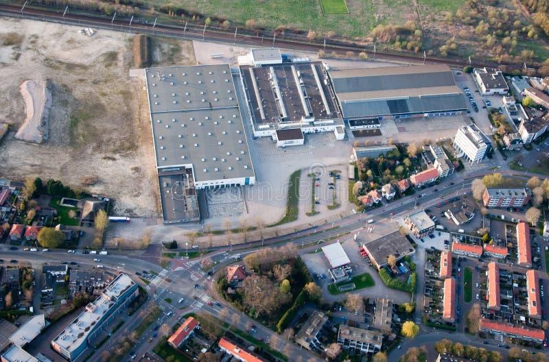Een luchtmening van de stad van Breda (Nederland). stock afbeelding