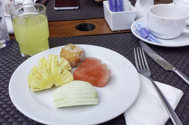 een maaltijd van Thailand in het hotel royalty-vrije stock foto's