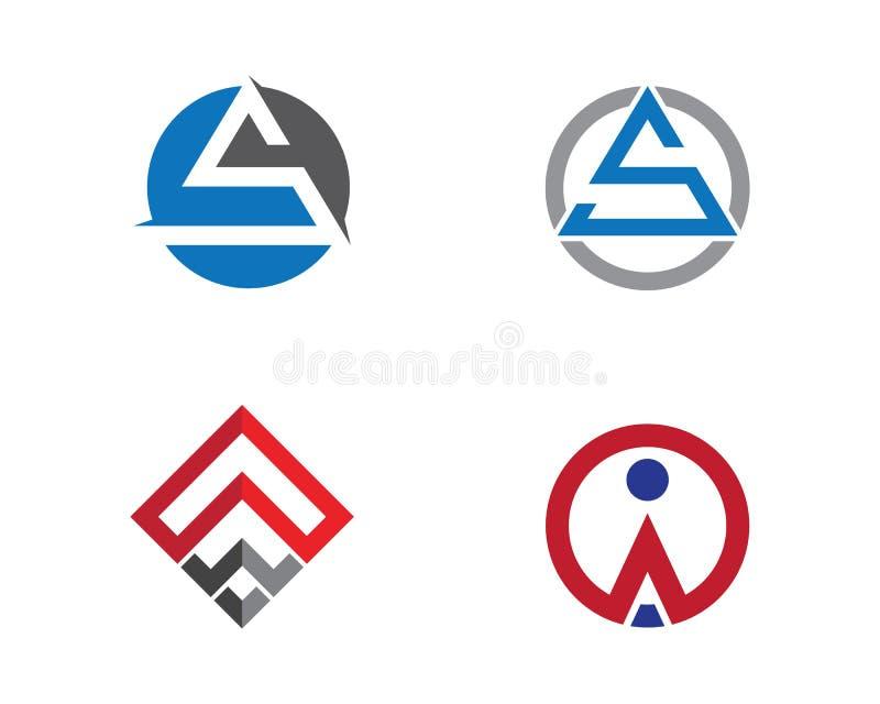Een malplaatje Brieven van het Bedrijfsfinanciën professioneel embleem vector illustratie