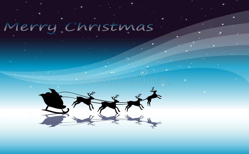 Een malplaatje van de Kerstmiskaart met rendieren royalty-vrije illustratie