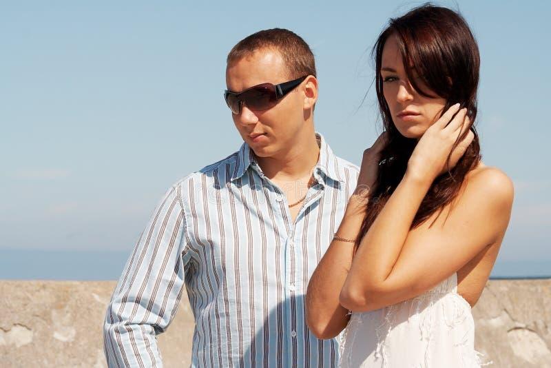 Een man en een vrouw royalty-vrije stock afbeelding
