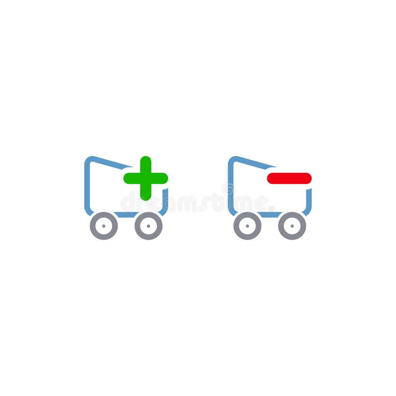 Een mand Het concept verkoop en kortingen Vector vlakke ontwerpillustratie Witte achtergrond Vector illustratie Eps 10 vector illustratie