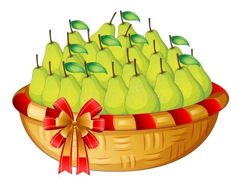 Een mand vruchten royalty-vrije illustratie