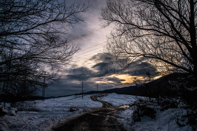 Een manier aan hemel stock fotografie
