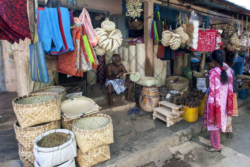 Een marktopslag in Jaffna in noordelijk Sri Lanka stock foto's