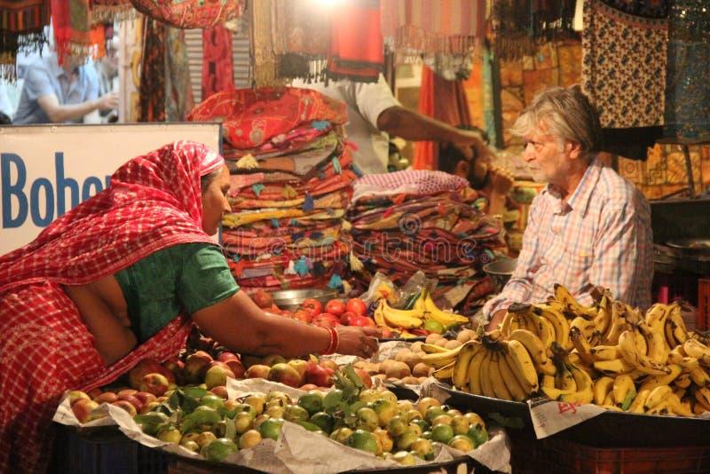 Een marktscène in Jodhpur royalty-vrije stock afbeelding