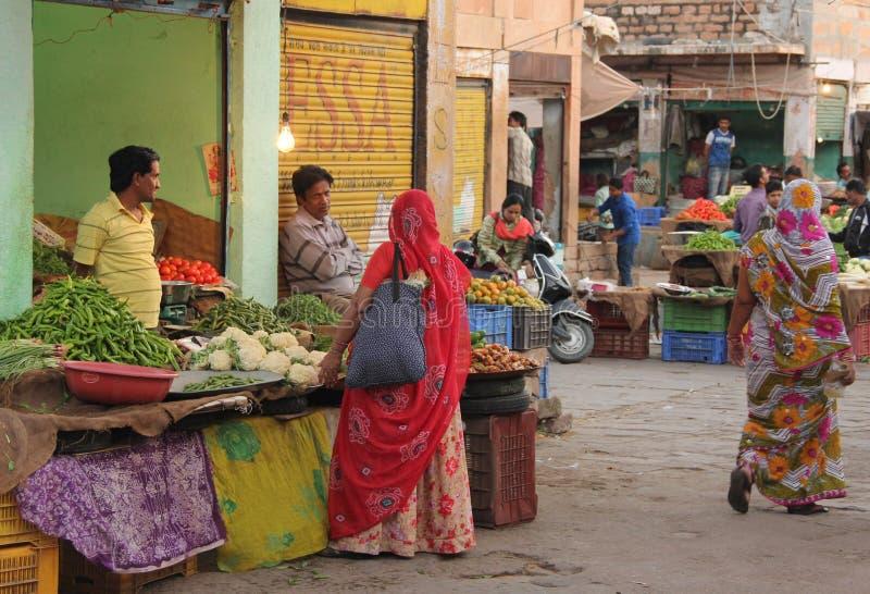 Een marktscène in Jodhpur royalty-vrije stock foto's