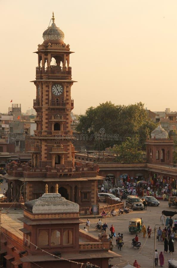Een marktscène in Jodhpur royalty-vrije stock afbeeldingen