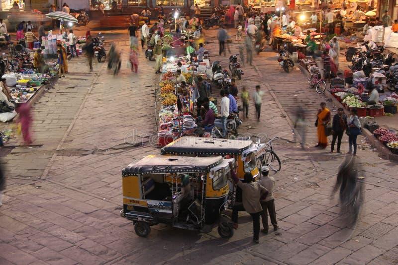 Een marktscène in Jodhpur royalty-vrije stock fotografie