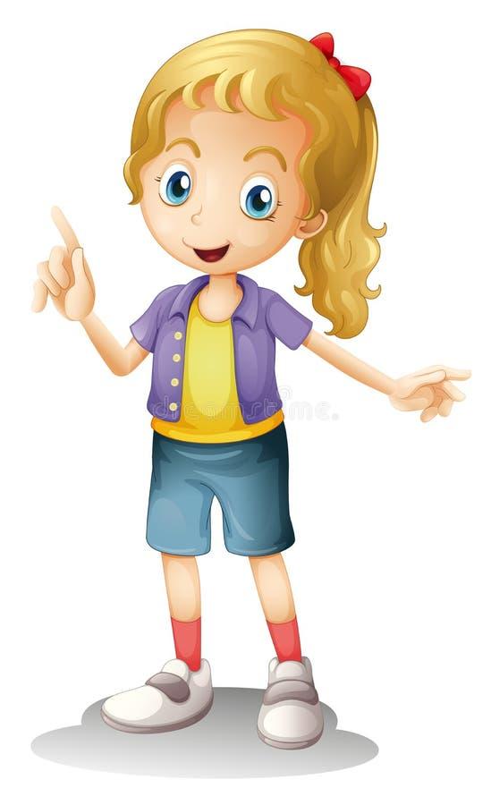Een meisje stock illustratie