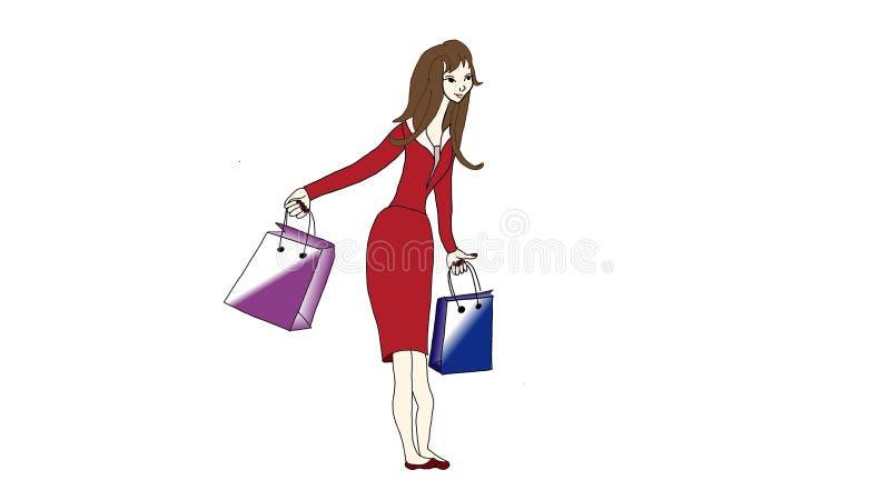 een meisje in de winkel royalty-vrije stock fotografie