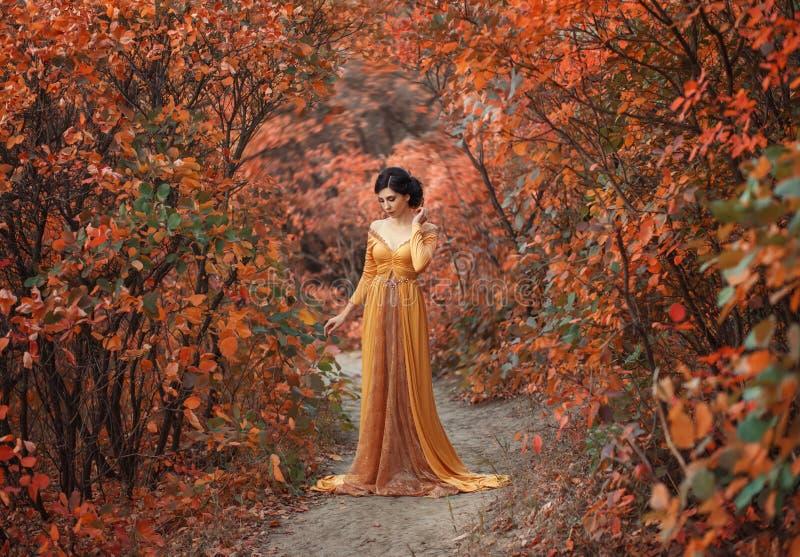 Een meisje in een uitstekende kleding stock afbeelding