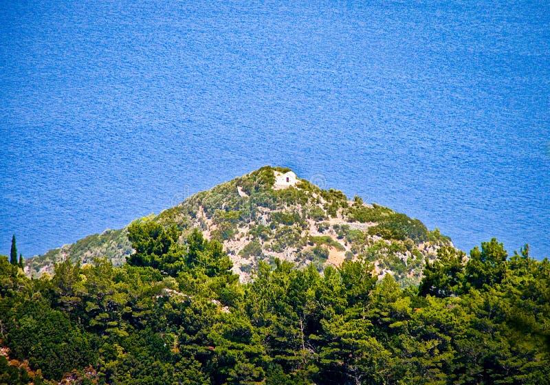 Een mening aan Egeïsche overzees - SAMOS eiland - GRIEKENLAND stock foto's