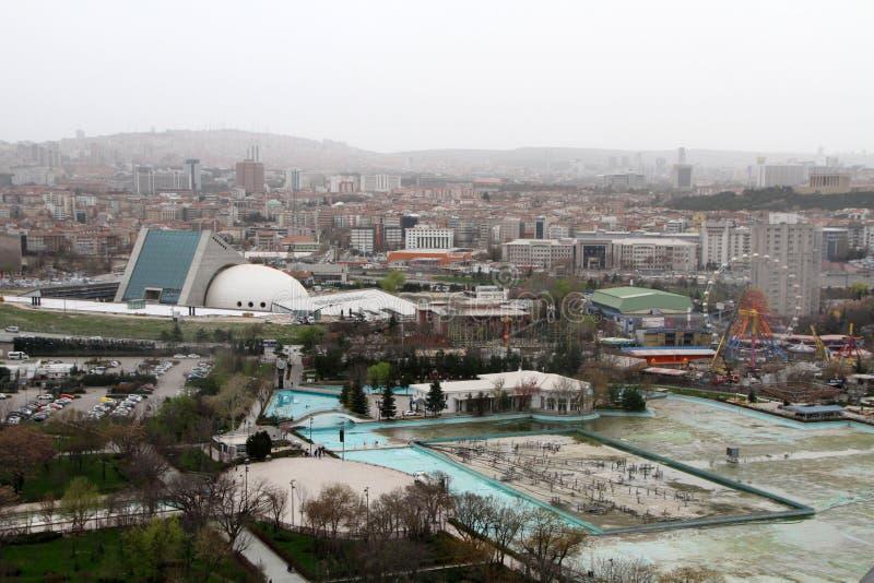 Een mening aan Gençlik Parkı in Ulus, Ankara royalty-vrije stock fotografie