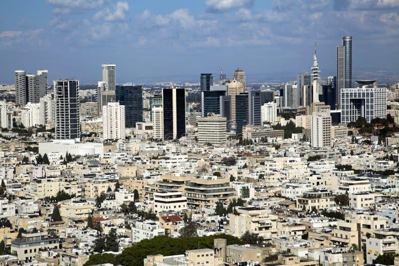 Horizon de van de binnenstad van Tel Aviv stock foto