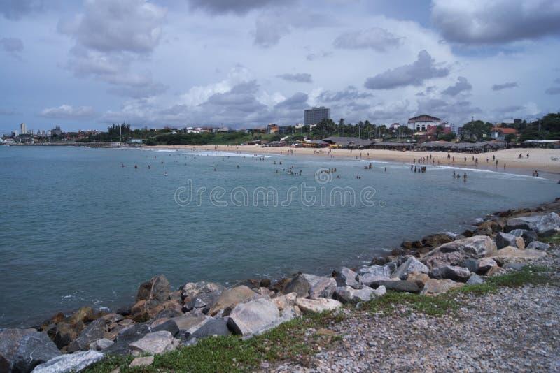 Een mening aan het strand, Brazilië stock afbeeldingen