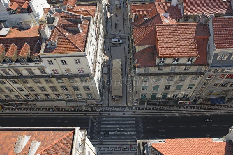 Een mening aan Lissabon royalty-vrije stock fotografie