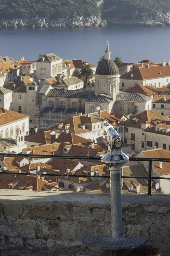 Een mening over Dubrovnik royalty-vrije stock afbeeldingen
