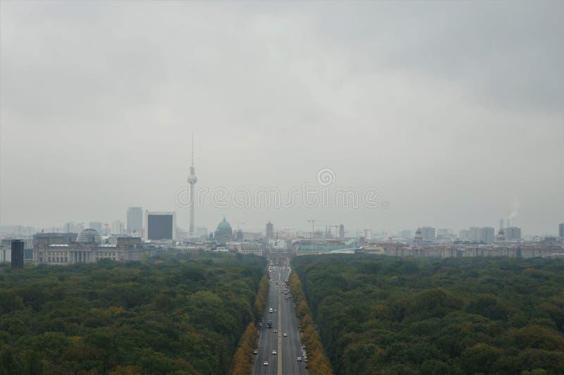 Een mening van Berlijn stock foto