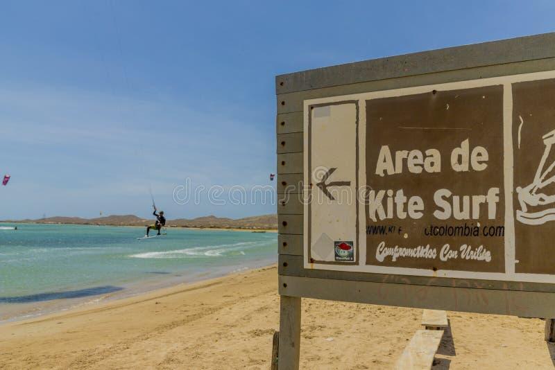 Een mening van Cabo DE La Vela in Colombia stock fotografie