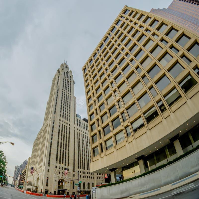Een mening van de horizon van Columbus, Ohio, royalty-vrije stock foto