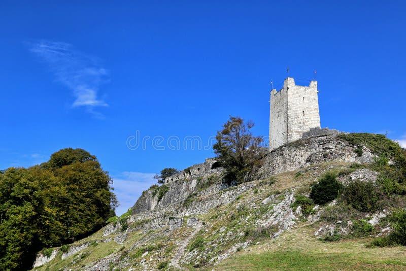 Een mening van de Iver-heuvel in Nieuwe Athos royalty-vrije stock foto's