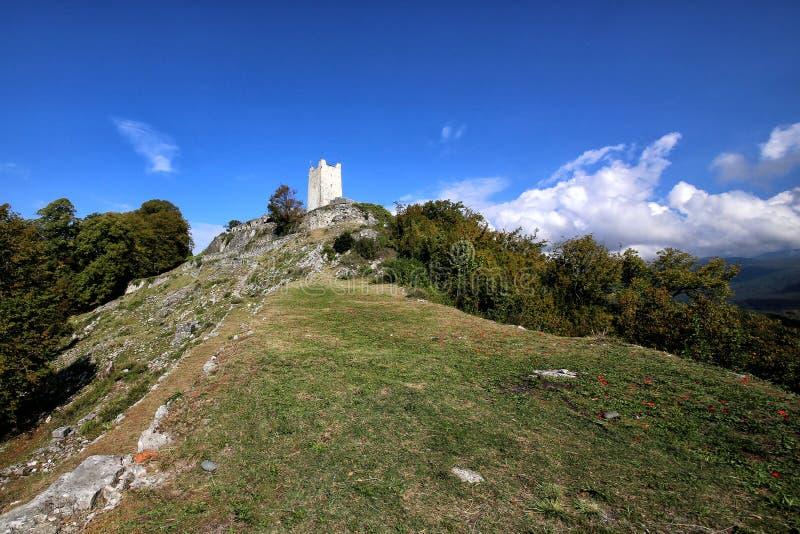 Een mening van de Iver-heuvel in Nieuwe Athos stock afbeelding