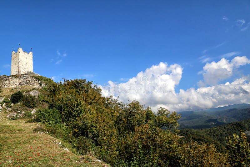 Een mening van de Iver-heuvel in Nieuwe Athos royalty-vrije stock foto