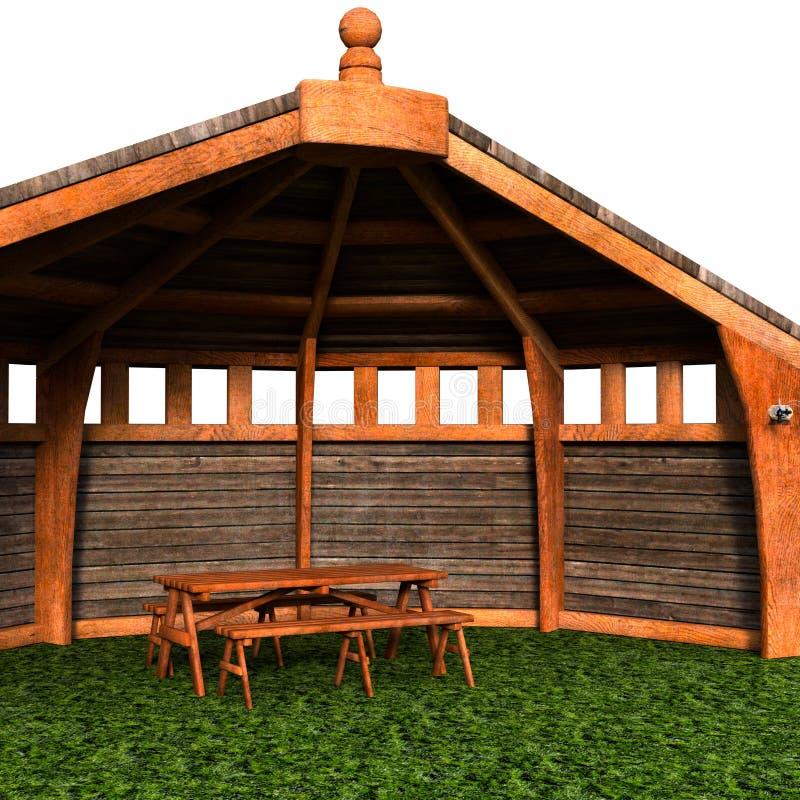 Een mening van de tent, tuinhuis Bekijk de hoek stock illustratie