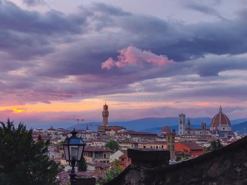 Een mening van Florence royalty-vrije stock foto