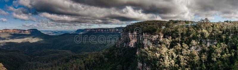 Een mening van het Blauwe Bergen Nationale Park, NSW, Australië stock foto